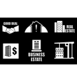 real estate industry icons set vector image vector image