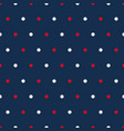 red and white polka dots on blue background vector image vector image