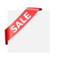 sale - red corner ribbon design element vector image vector image
