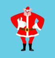 santa pig thumbs up well and winks sign all right vector image vector image