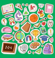 school icons set education collection vector image