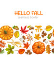 seamless border autumn leaves vector image vector image