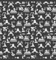 seamless pattern with robot arms elements vector image