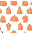 seamless patterns pumpkin halloween background vector image vector image