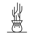 seedling icon outline style vector image