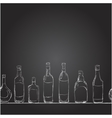 set of bottles with alcohol the style of vector image vector image