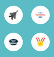 set of day icons flat style symbols with medal vector image vector image