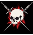 skull and dagger black vector image vector image