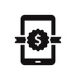 smartphone icon with dollar badge sign vector image