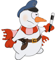 Snowball the policeman vector image