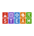 steam - science technology engineering art math vector image vector image