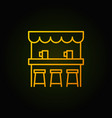 street beer bar yellow icon or symbol in vector image