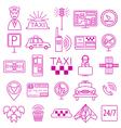 Taxi icon Thin line icon design