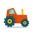 Tractor in Flat Style Design vector image