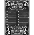 Vintage Blackboard for Halloween Party vector image vector image