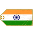 Vintage label with the flag of India vector image vector image