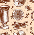 warm wine seamless background vector image vector image