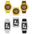 wristwatch 09 vector image vector image