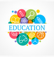 Science and education concept Set of flat icons vector image