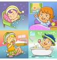 child routine bed room vector image