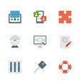 Flat design icons symbols for website vector image