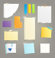 set of of different paper vector image