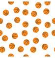 background of basketballs vector image vector image