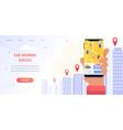 banner navigation location rental car vector image vector image