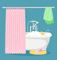 bath soap bubbles yellow duck and towel vector image vector image