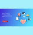 business agreement banner handshake target vector image
