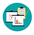 business analytics icon clipboards with graphics vector image