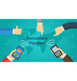 business banner - contactless payment vector image