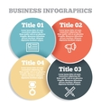 Business circle infographic diagram presentation vector image