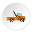 car tow truck icon circle vector image vector image