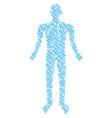 chain man figure vector image vector image