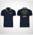 color men polo shirts design template vector image vector image