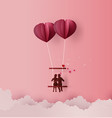 concept of love and valentine day vector image vector image