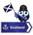 COUNTRY SIGN SCOTLAND vector image vector image