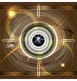 Cyber eye vector image vector image