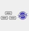 dot bricks icon and grunge quartz stamp vector image vector image