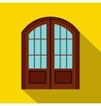 Double door icon flat style vector image