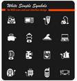 electronics supermarket white icon set vector image vector image