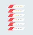 feedback star rating symbol design vector image