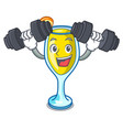 fitness mimosa character cartoon style vector image vector image