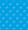 fresh donut pattern seamless blue vector image