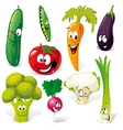 funny vegetable cartoon vector image vector image
