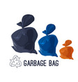 garbage bag icons set rubbish waste and trash in vector image