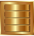 golden panel vector image vector image