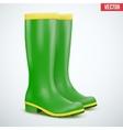 Green Garden rubber high boots vector image