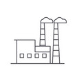 industrial building thin line icon concept vector image vector image
